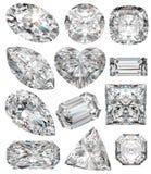 Dimensiones de una variable del diamante. Fotografía de archivo libre de regalías