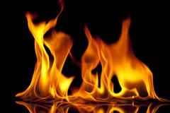 Dimensiones de una variable del fuego Foto de archivo libre de regalías