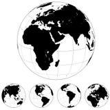 Dimensiones de una variable del globo de la tierra Imagenes de archivo