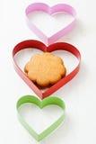 Dimensiones de una variable del pan de jengibre y del corazón Foto de archivo libre de regalías