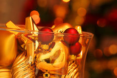 Dimensiones de una variable del vidrio de la Navidad Imagenes de archivo