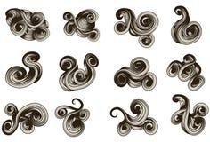 Dimensiones de una variable drenadas mano abstracta del desfile Fotos de archivo