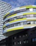 Dimensiones de una variable en edificios Imagen de archivo