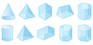 Dimensiones de una variable geométricas Foto de archivo libre de regalías