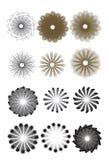 Dimensiones de una variable geométricas abstractas Imagenes de archivo
