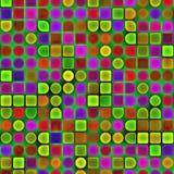 Dimensiones de una variable geométricas multicoloras Fotos de archivo libres de regalías