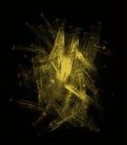 Dimensiones de una variable y elementos abstractos en fondos negros Imagenes de archivo