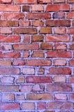 Dimensioni differenti dei mattoni della parete Immagini Stock
