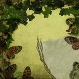Dimensioni ed edera della farfalla Immagini Stock Libere da Diritti