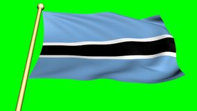 Flag of Botswana, Africa