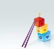 5 dimensions du développement, de la santé et du Gro personnels illustration de vecteur