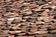 Dimensions of roof tile Stock Photo