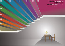 3 dimensions stair. The 3 dimensions stair have shadown for EPS 10 vector infographics Stock Photos