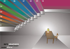 3 dimensions stair. The 3 dimensions stair have shadown for EPS 10 vector infographics Stock Photo