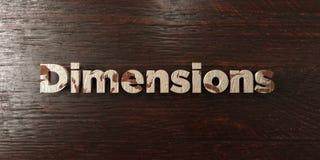 Dimensions - titre en bois sale sur l'érable - image courante gratuite de redevance rendue par 3D illustration stock