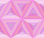 Dimensions triangulaires, fond qu'on peut répéter géométrique abstrait illustration stock