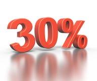 Dimentional drei Wiedergabe von dreißig Prozent stockbild