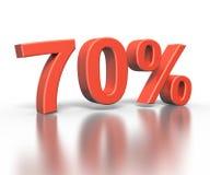 Dimentional drei Wiedergabe von siebzig Prozent lizenzfreie stockfotografie