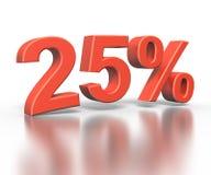 Dimentional drie het teruggeven van vijfentwintig percenten Royalty-vrije Stock Afbeelding