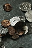 Dimes pennies and quarters Royalty Free Stock Photography