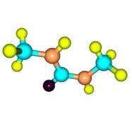 Dimethylurea molecule isolated on white Stock Photo