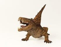 Dimetrodon,一只二叠纪掠食性爬行动物 库存图片