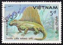 Dimetrodon,系列`史前动物`,大约1984年 免版税库存图片