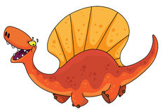 Dimetrodon del dinosauro Fotografia Stock