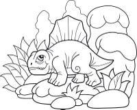 Dimetrodon divertente, immagine divertente Fotografia Stock