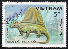 Dimetrodon, serie del ` del ` prehistórico de los animales, circa 1984 Imágenes de archivo libres de regalías