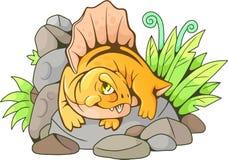 Dimetrodon sveglio, illustrazione divertente Immagini Stock