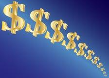 Diminishing Dollars Stock Photo