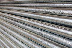 Diminishing Galvanized Pipe Royalty Free Stock Photography
