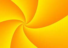 Diminishing perspective of wide yellow curled rays with copy spa Royalty Free Stock Image