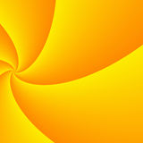 Diminishing perspective of wide yellow curled rays Royalty Free Stock Photos