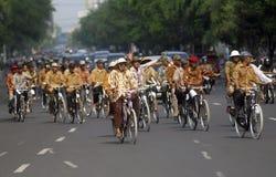 DIMINUIÇÃO DA VISITA DO TURISMO DE INDONÉSIA Foto de Stock Royalty Free