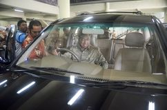DIMINUIÇÃO DAS VENDAS DO CARRO Fotos de Stock Royalty Free