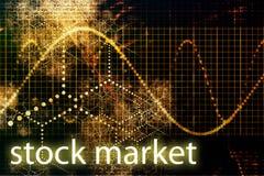 Diminuição do mercado de valores de acção Fotos de Stock Royalty Free