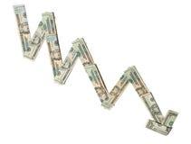 Diminuição econômica Imagem de Stock