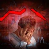Diminuição econômica imagens de stock royalty free