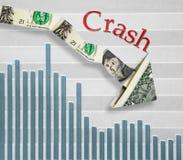 Diminuição econômica Imagens de Stock