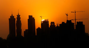 Diminuição em Dubai Fotos de Stock Royalty Free
