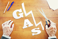 Diminuição em preços de gás Foto de Stock