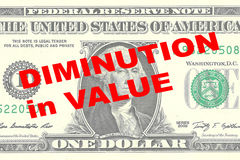 Diminution in Value concept Stock Images