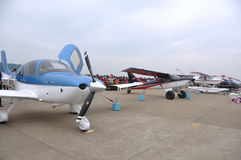 Diminutive aeroplane Stock Photos