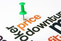 Diminuzione di prezzi Fotografia Stock