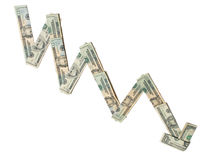 Diminuzione economica Immagine Stock