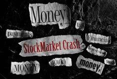 Diminuzione economica Fotografie Stock