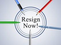Dimita ahora significa abandonado o dimisión del gobierno o del presidente del trabajo libre illustration