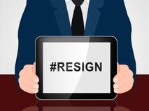 Dimita a Hashtag significa abandonado o dimisión del gobierno o del presidente del trabajo libre illustration